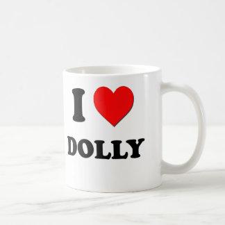 I Love Dolly Coffee Mugs