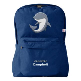 I Love Dolphins Cute Bottlenose Backpack