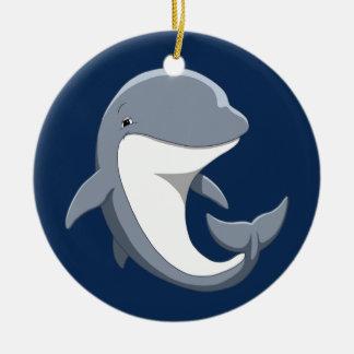 I Love Dolphins Cute Bottlenose Ceramic Ornament