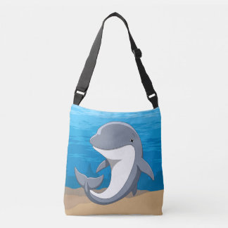 I Love Dolphins Cute Bottlenose Crossbody Bag