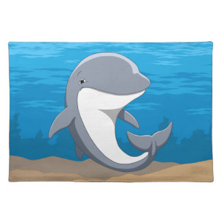 I Love Dolphins Cute Bottlenose Placemat