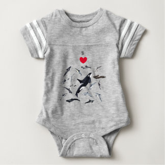 I love dolphins - Master the dolphins Baby Bodysuit