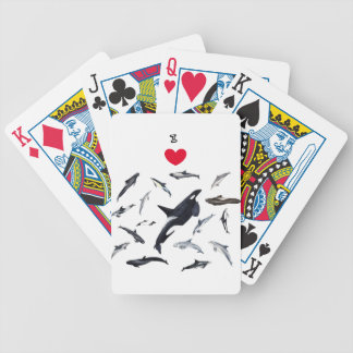 I love dolphins - Master the dolphins Bicycle Playing Cards
