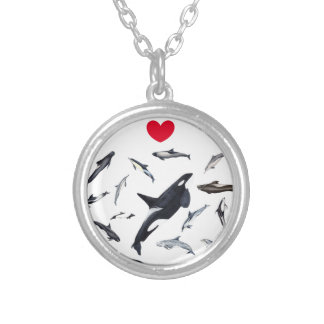 I love dolphins - Master the dolphins Silver Plated Necklace
