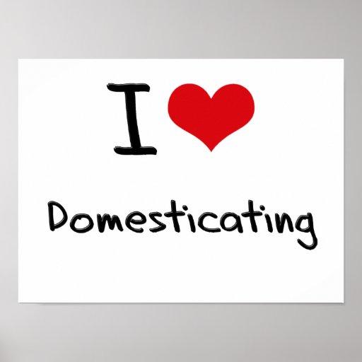 I Love Domesticating Print