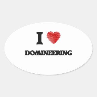 I love Domineering Oval Sticker
