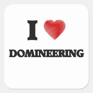 I love Domineering Square Sticker
