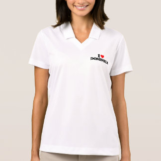 I LOVE DOMINICA POLO T-SHIRT