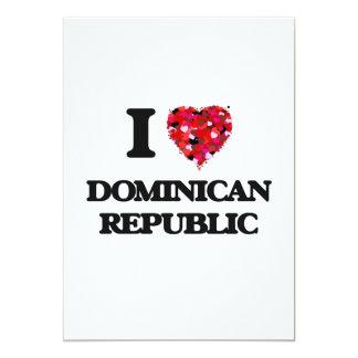 I Love Dominican Republic 13 Cm X 18 Cm Invitation Card