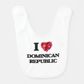 I Love Dominican Republic Baby Bibs