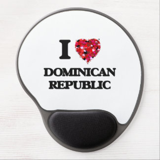 I Love Dominican Republic Gel Mouse Pad