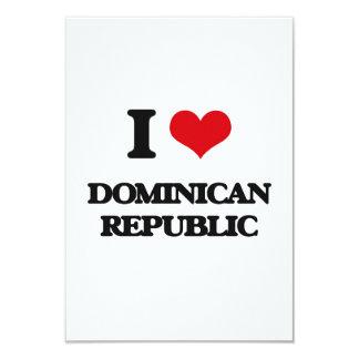 """I Love Dominican Republic 3.5"""" X 5"""" Invitation Card"""