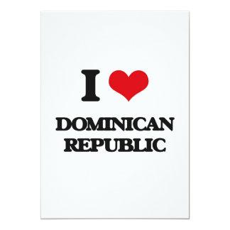 """I Love Dominican Republic 5"""" X 7"""" Invitation Card"""