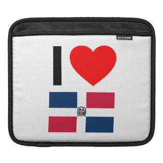 i love dominican republic iPad sleeve