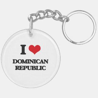 I Love Dominican Republic Acrylic Key Chain