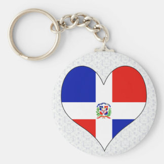 I Love Dominican Republic Key Ring