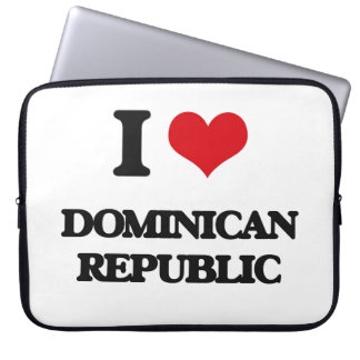 I Love Dominican Republic Computer Sleeves