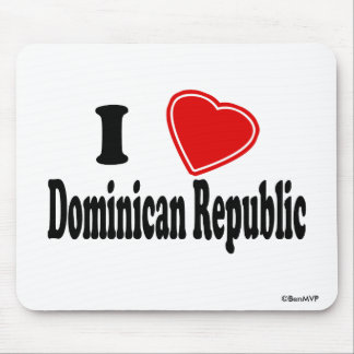 I Love Dominican Republic Mouse Pad