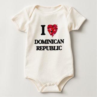 I Love Dominican Republic Bodysuit