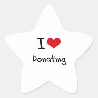 I Love Donating Star Sticker