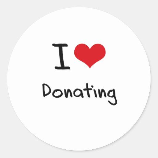 I Love Donating Sticker