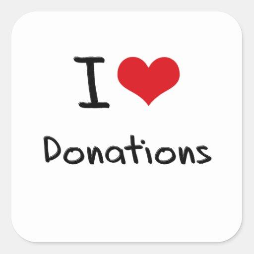 I Love Donations Sticker