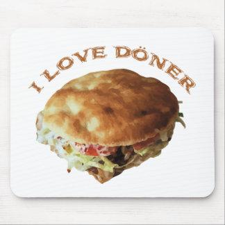 I Love Döner Mouse Pad