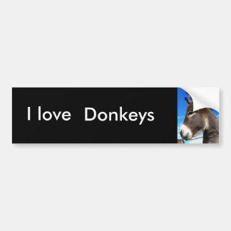 I love , Donkeys bumber sticker