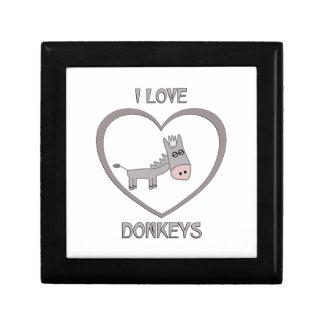 I Love Donkeys Gift Box
