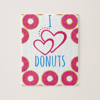I love donuts poster. jigsaw puzzle