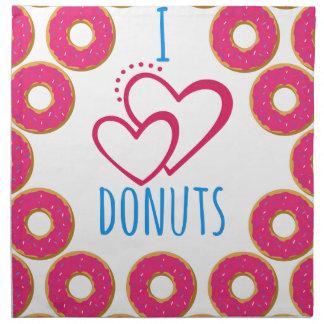 I love donuts poster. napkin