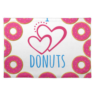 I love donuts poster. placemat