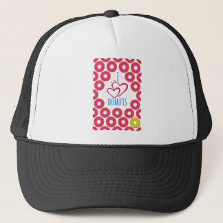 I love donuts poster. trucker hat