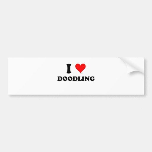 I Love Doodling Bumper Stickers