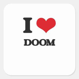 I love Doom Square Sticker