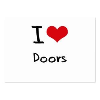 I love Doors Business Card Templates