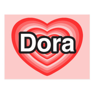I love Dora. I love you Dora. Heart Postcard