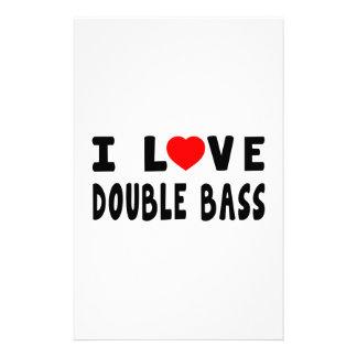 I Love Double bass Stationery