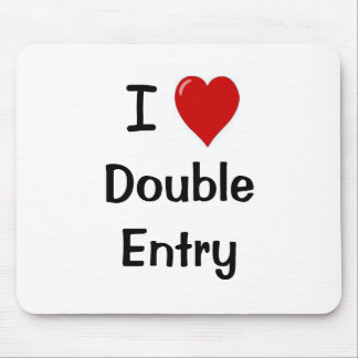 I Love Double Entry Mouse Pad