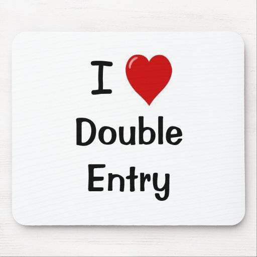 I Love Double Entry Mouse Mat