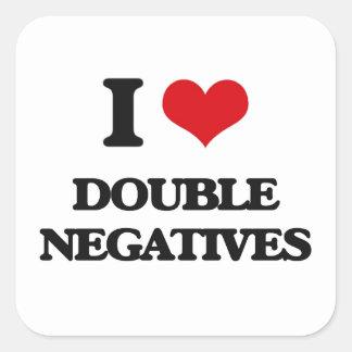 I love Double Negatives Square Sticker