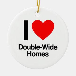 i love double-wide homes ceramic ornament