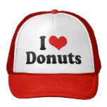 I Love Doughnuts Trucker Hats