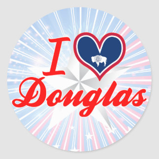 I Love Douglas, Wyoming Stickers