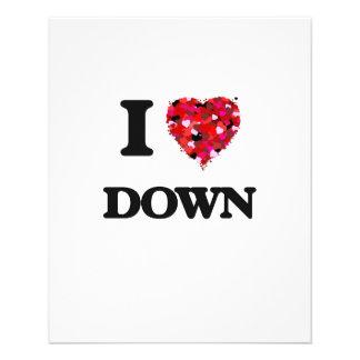 I love Down 11.5 Cm X 14 Cm Flyer