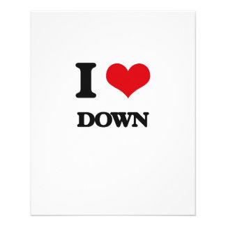 I love Down Flyer Design