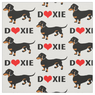 I Love Doxies - Dachshund Pattern Fabric