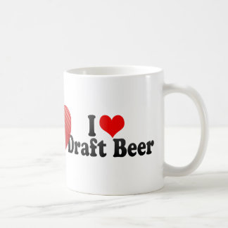 I Love Draft Beer Coffee Mugs
