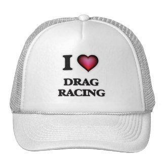 I Love Drag Racing Cap