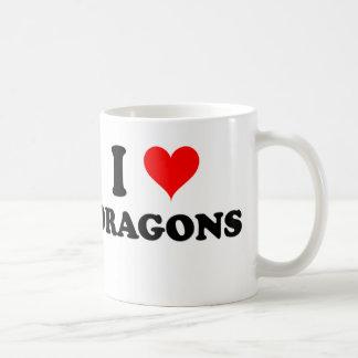 I Love Dragons Basic White Mug